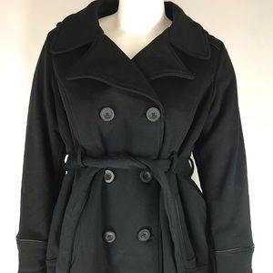Jones New York Black Belted Coat Jacket Sz 1X